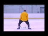 Видео как кататься на коньках. 6. Резкое торможение
